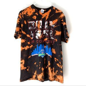 Billy Joel Bleached Tie Dye Graphic Band Shirt